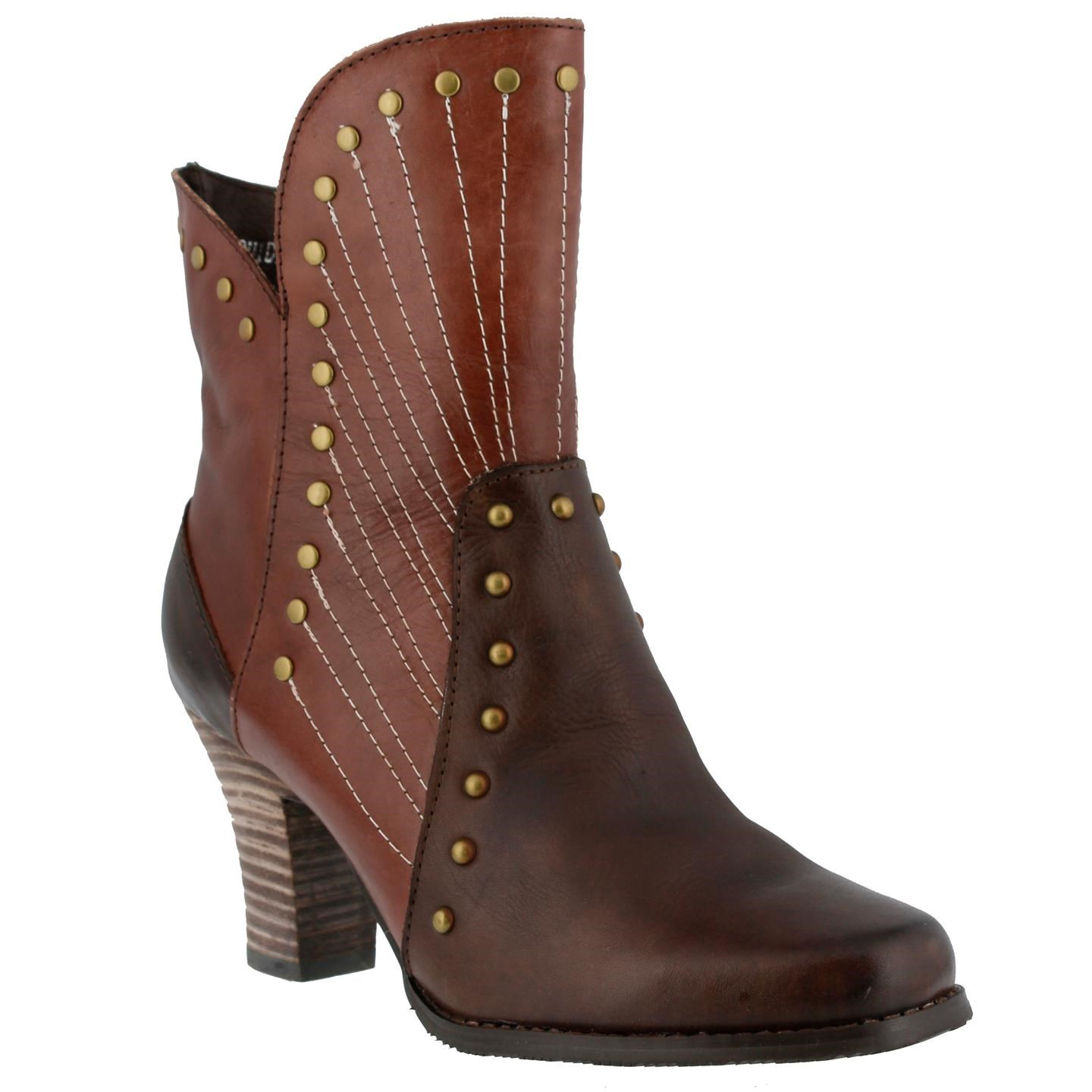 L'Artiste Quiddity By Spring Step Brown Leather Boots 37 ...