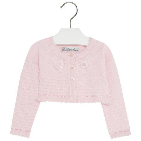 457c4abe6541 Mayoral - Mayoral Baby Girl 3M-24M Fancy Knit Bolero Cardigan ...