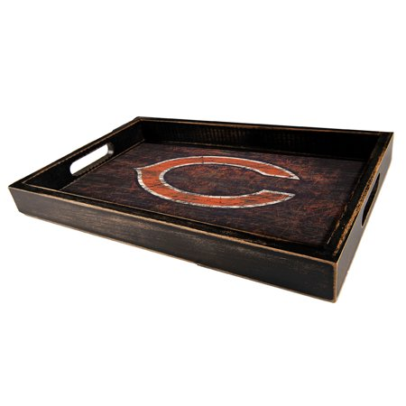 Chicago Bears 9'' x 15'' Team Color Tray - No Size