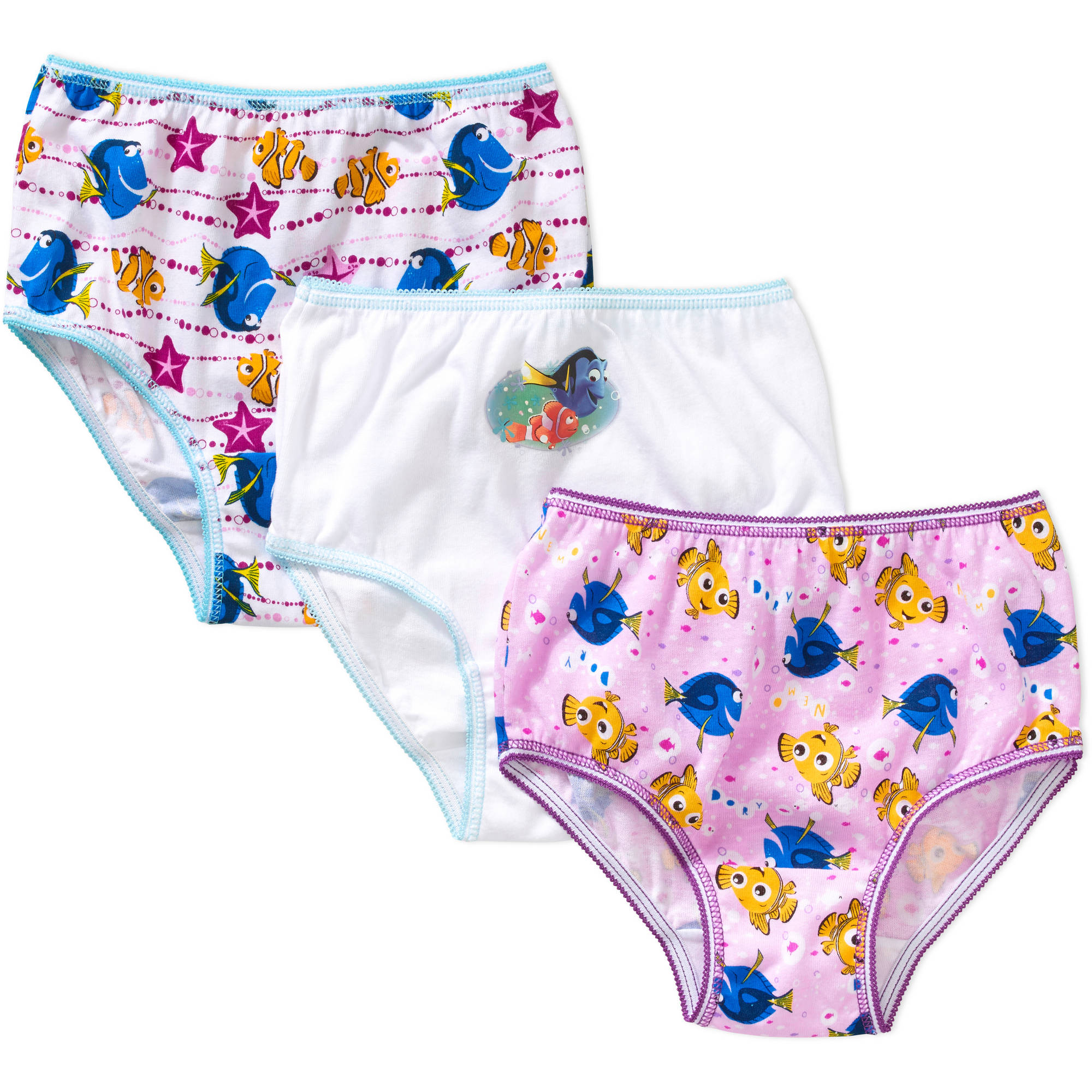 Disney Finding Nemo Dory Toddler Girls Underwear, 3-Pack