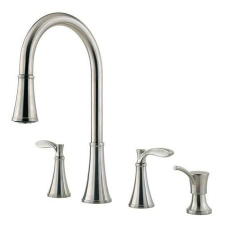 Pfister Petaluma F531-4PAS Double Handle Kitchen Faucet