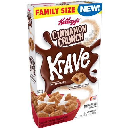 Kellogg's Krave Cinnamon Crunch Breakfast Cereal 17.3 oz