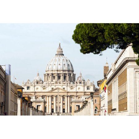 St. Peters' Dome, Vatican City, UNESCO World Heritage Site, Rome, Lazio, Italy, Europe Print Wall Art By Nico Tondini