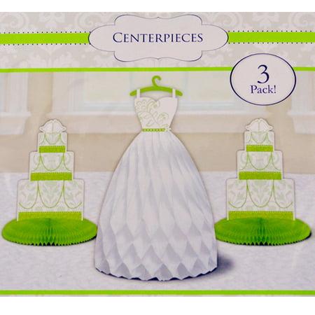 Bridal Shower 'Blushing Bride' Green Centerpieces - Bridal Shower Centerpieces