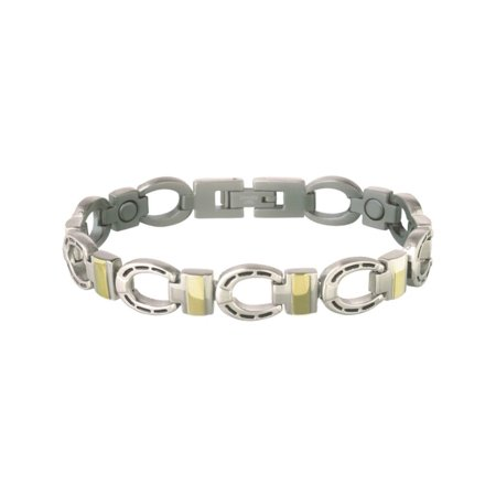Jewelry Mens Womens Bracelet Horseshoe Magnetic Black 225