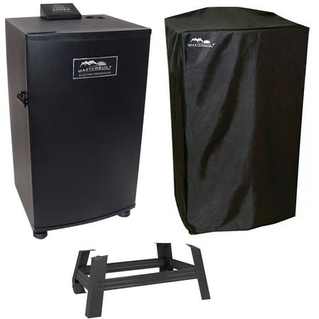"Image of ""Masterbuilt 20070910 30"""" Electric Digital Smokehouse, Leg Extension Kit & Smoker Cover"""