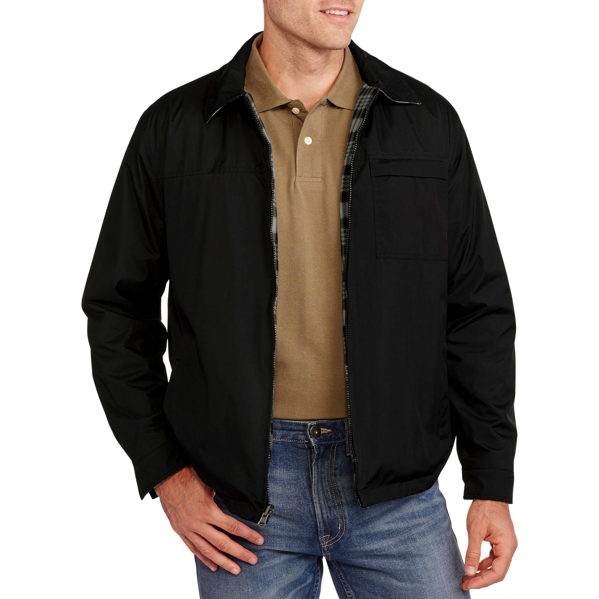 Big Men's Reversible Plaid Fleece Jacket, 2XL
