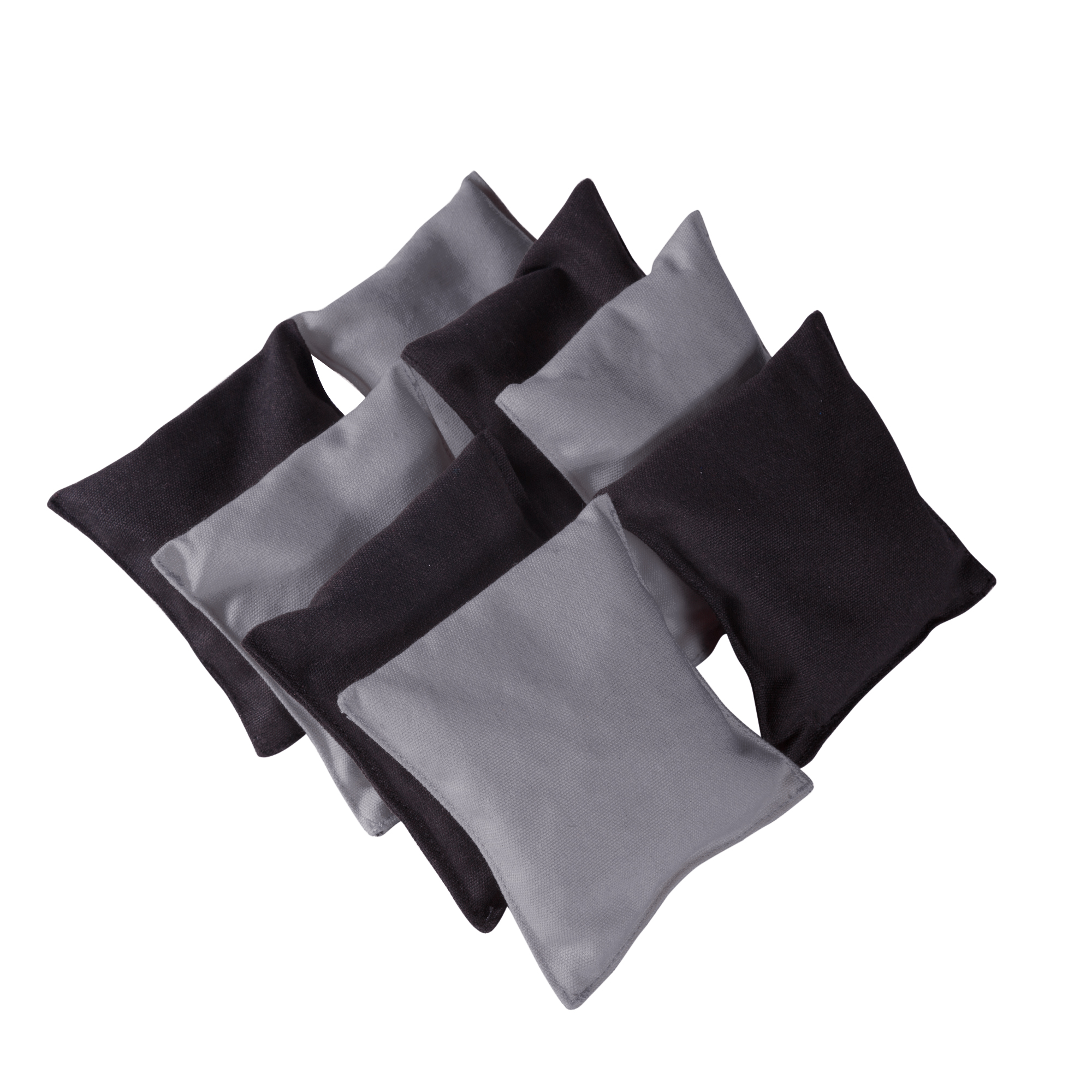 Cornhole Beanbags Replacement 4 Silver & 4 Black (8 Bags) by Phelps Group