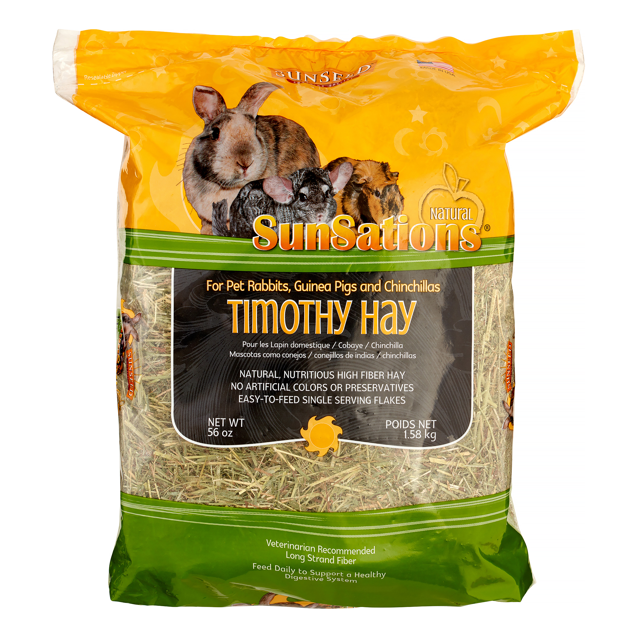 Sunseed Sunaturals Spring Harvest Timothy Hay Dry Small Animal Food, 56 Oz