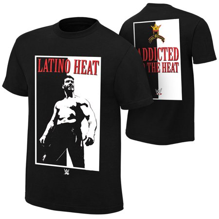 """Official WWE Authentic Eddie Guerrero """"Addicted to the Heat"""" Retro T-Shirt Black Small"""