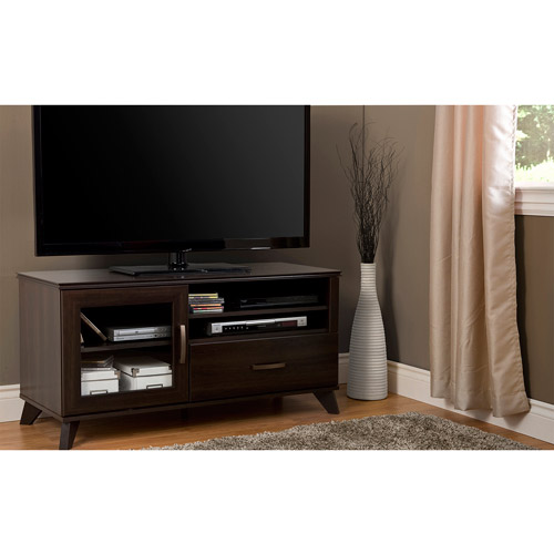 South Shore Caraco Mocha TV Stand for TVS up to 48