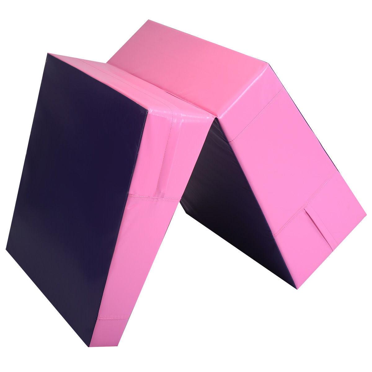 Folding Incline Mat Slope Cheese Gymnastics Gym Exercise Aerobics Tumbling Wedge - image 7 of 9