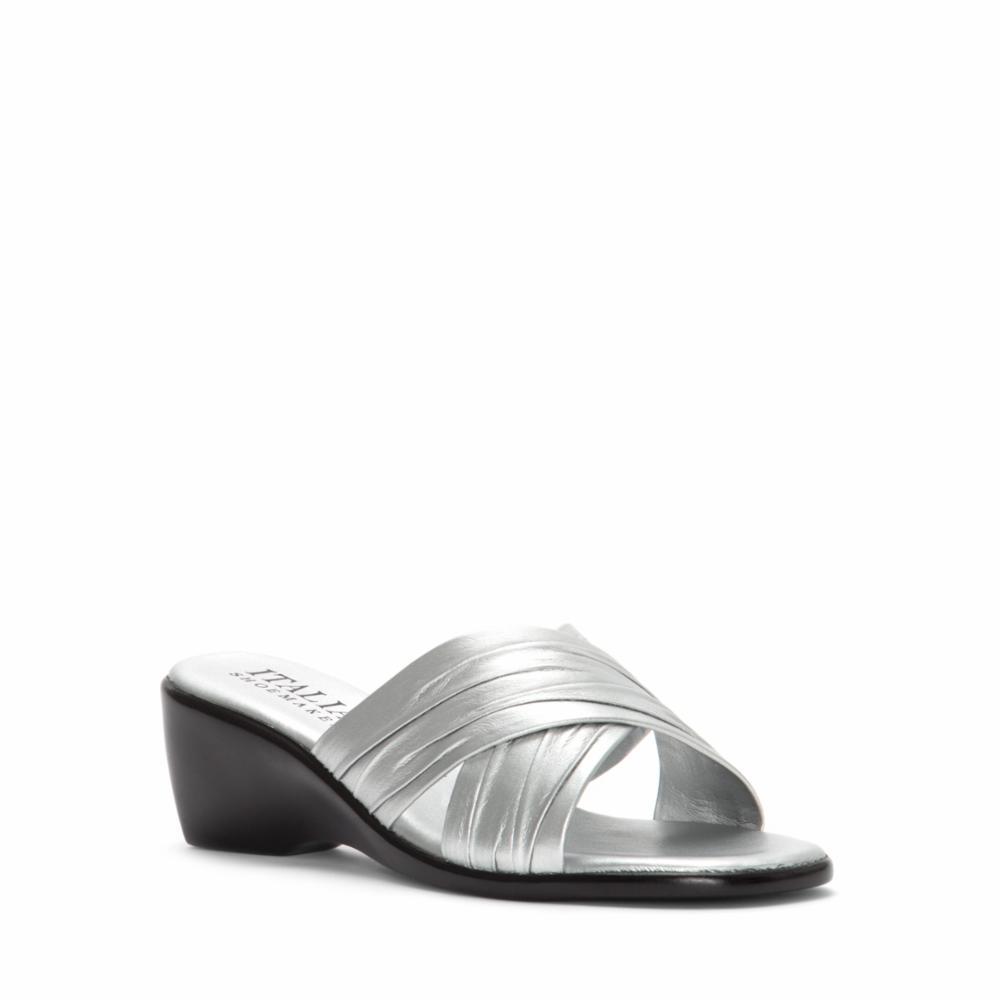 Italian Shoemakers Women's D168 Silver 8 M US - image 1 of 5