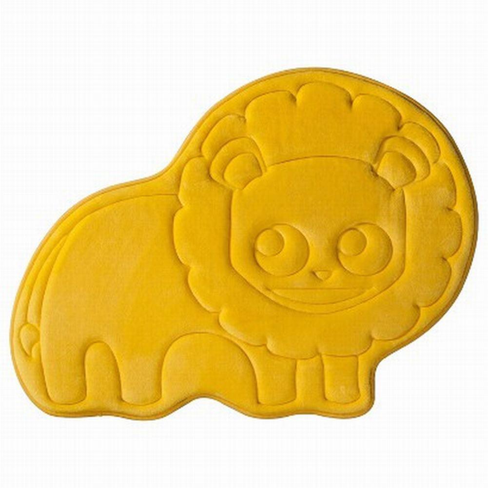 Circo Luxurious Memory Foam Yellow Lion Bath Mat Skid Resistant Throw Rug 20x27