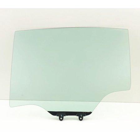 Rear Side Glass - For 2003-2007 Saturn Ion 4 Door Sedan Driver/Left Side Rear Door Window Replacement Glass