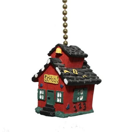 clementine design little red school house ceiling fan pull. Black Bedroom Furniture Sets. Home Design Ideas
