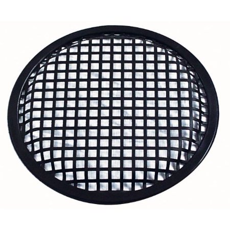 10'' Inch Car Audio Speaker Sub Woofer Subwoofer Metal Black Waffle Grill Cover Guard Protector Grille -