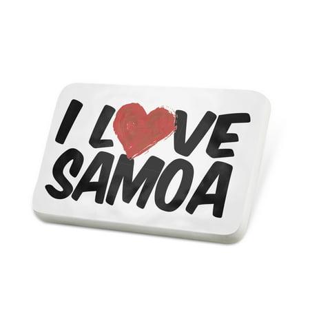 (Porcelein Pin I Love Samoa Lapel Badge – NEONBLOND)