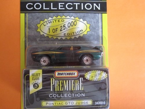 1995 Tyco Matchbox Premiere Collection Select Class Series 3 Pontiac GTO Judge Green 1:64... by