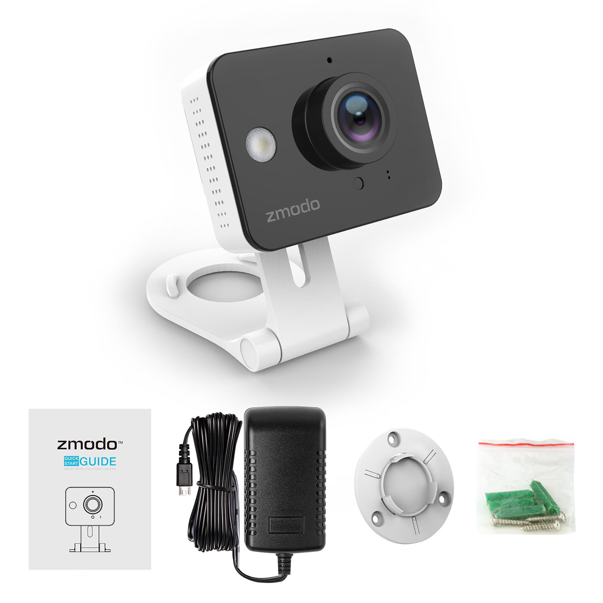 Zmodo 720P HD Mini WiFi Smart Security Camera Two Way Audio Night Vision    Free 6 Month Cloud Service   Walmart.com