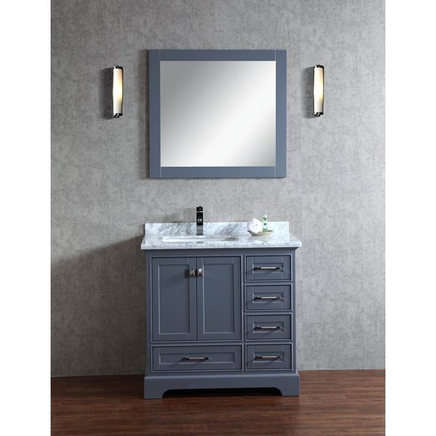 Single Sink Bathroom Vanity With Mirror Walmart Com Walmart Com