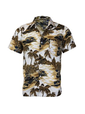 68ff5e978 Product Image Men's Hawaiian Tropical Luau Aloha Beach Party Button Up  Casual Dress Shirt (Agate Green,