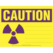 COMPLYRIGHT EHG12 Caution Sign,Radioactive