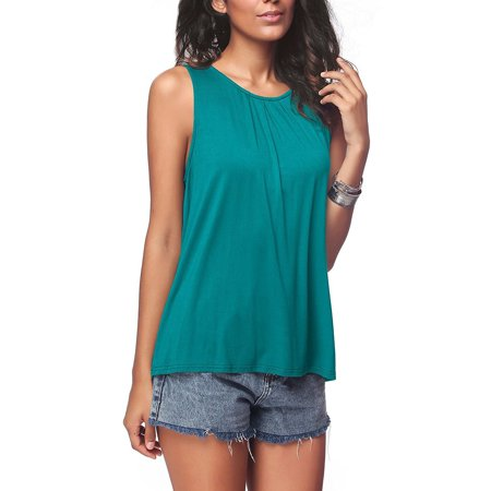 Summer Sleeveless Women T-Shirts Solid Color Tees Vests Casual Round Neck Female Tops - Npt Female Tee