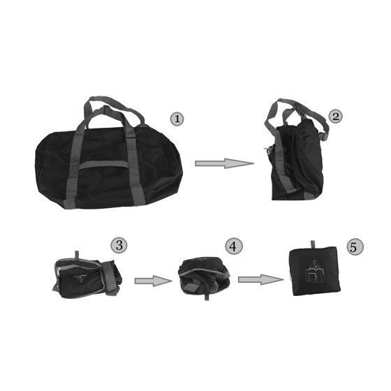 0f49ce5b02f2 WANDF T302 Foldable Travel Duffel Bag for Luggage, Sports & Gym, Rip-stop  Water Resistant Nylon, Black