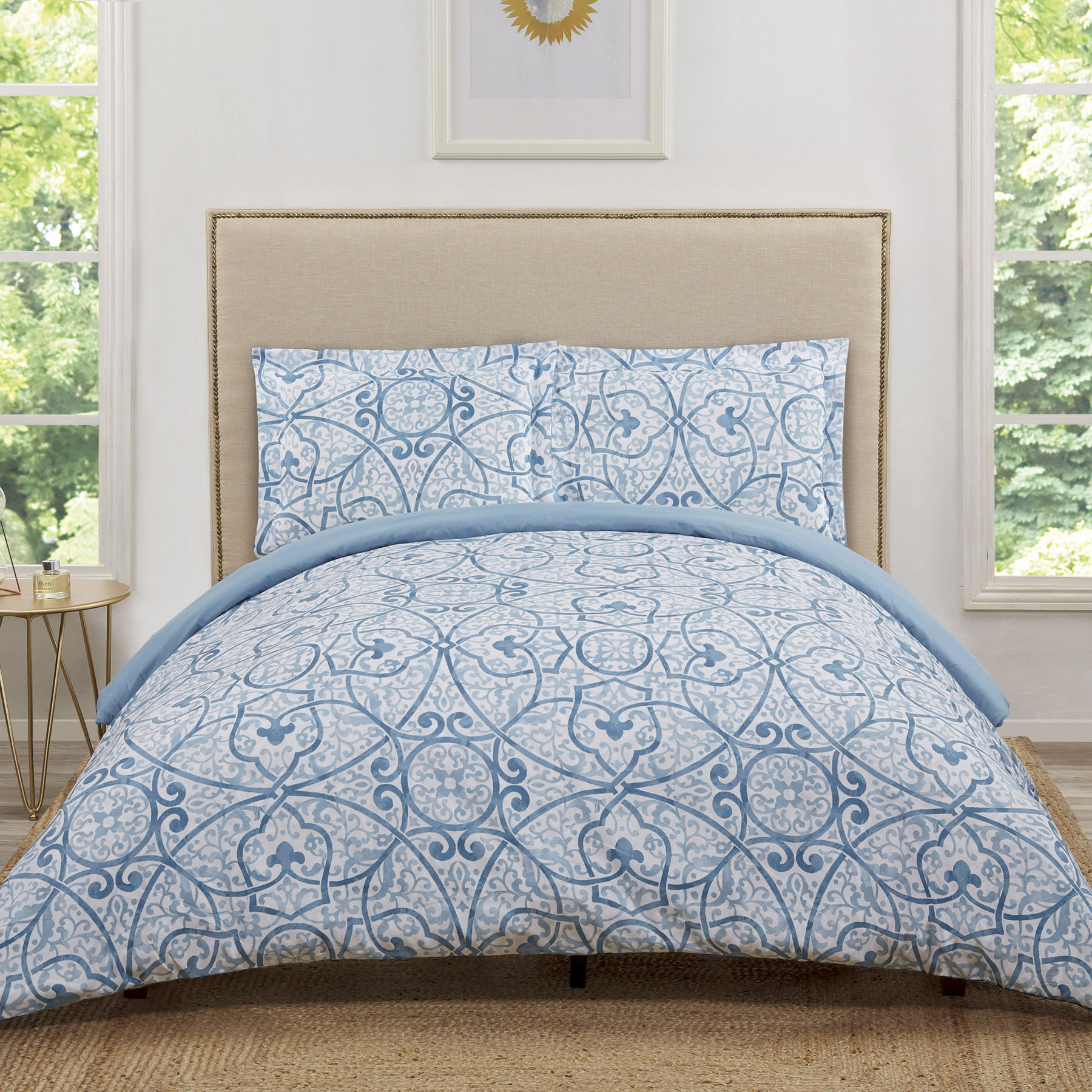 Truly Soft Marcello Blue Twin Extra Long Duvet Set