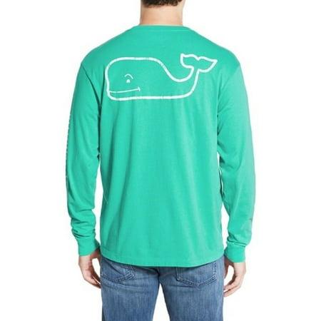Vineyard Vines Men's Vintage Whale Graphic Tee Aquinnah Aqua LS  (2XL) XX-Large $48.00