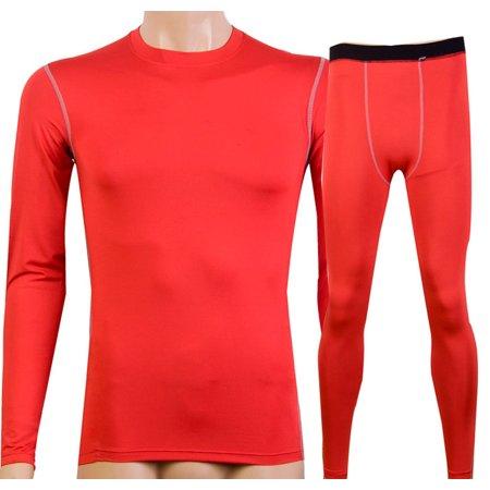 ae9b894a4c Senfloco - Senfloco Men's Cool Long Sleeve Compression Terylene Spandex T  –Shirt and Trousers for Gym – 2-Piece Set - Walmart.com