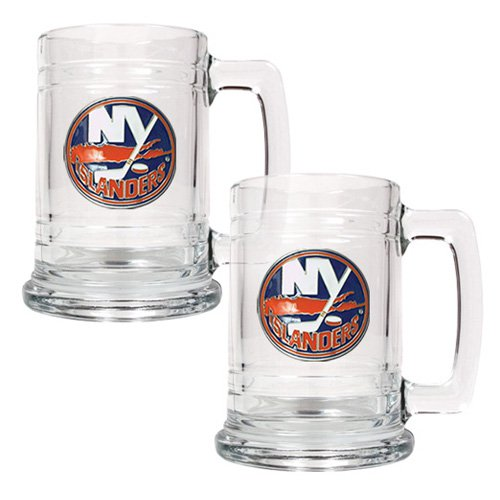 NHL - New York Islanders 2pc. 15oz. Glass Primary Tankard Set