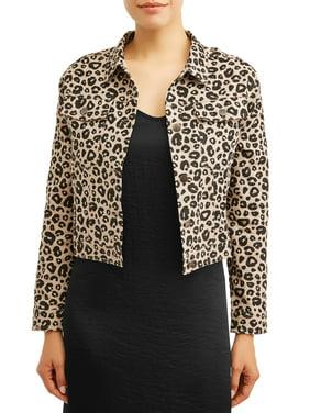 Women's Leopard Print Trucker Jacket