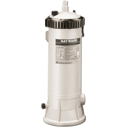 Hayward easy clear 55 square feet cartridge pool filter for Average square footage of a pool