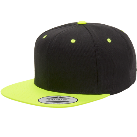 e6726396c10a5 Yupoong - The Hat Pros Snapbacks Flexfit Pro-Style Snapback Hats w  Green  Underbill 6089M (Black Neon Green) - Walmart.com