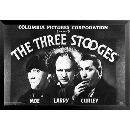 buyartforless FRAMED The Three Stooges Opening Credits Larry Moe Curley 36x24 Movie Humor Art Print Poster - Halloween 3 Opening Credits