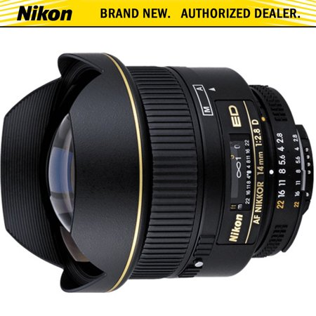 Nikon AF FX NIKKOR 14mm f/2.8D ED Ultra Wide Angle Fixed Zoom Lens with Auto Focus for Nikon DSLR