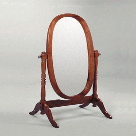 Crown Mark Cheval Mirror  Oak