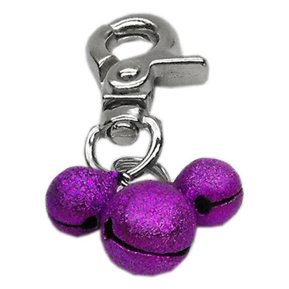 Lobster Claw Bell Charm for Pets, Purple Ship from US..., By Mirage Pet Products