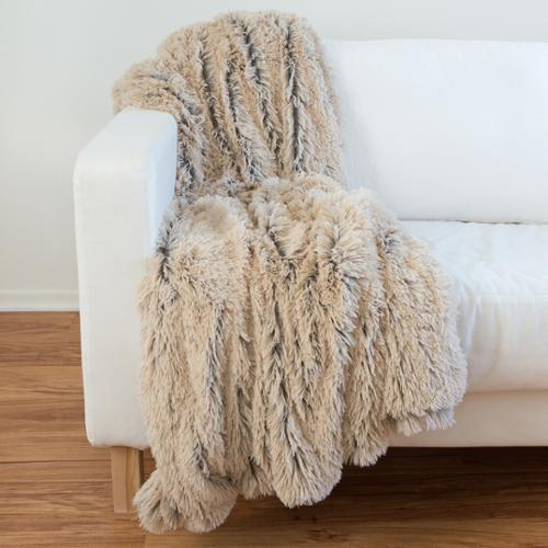 "Designer Collections by Sheri Shag/ Faux Fur Pillow or Throw 50""x60"" Throw Blanket"