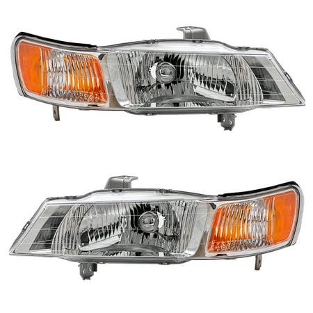 Olds Silhouette Van Headlights (BROCK Headlights Headlamps Driver and Passenger Replacements for 99-04 Honda Odyssey Van 33151-S0X-A01)
