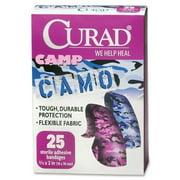 Curad Pink/Blue Fabric Camo Bandage - 25 per pack