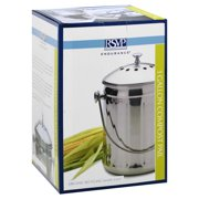 Culinary Accessories Stainless Steel Compost Pail 1 gallon 213736 OC