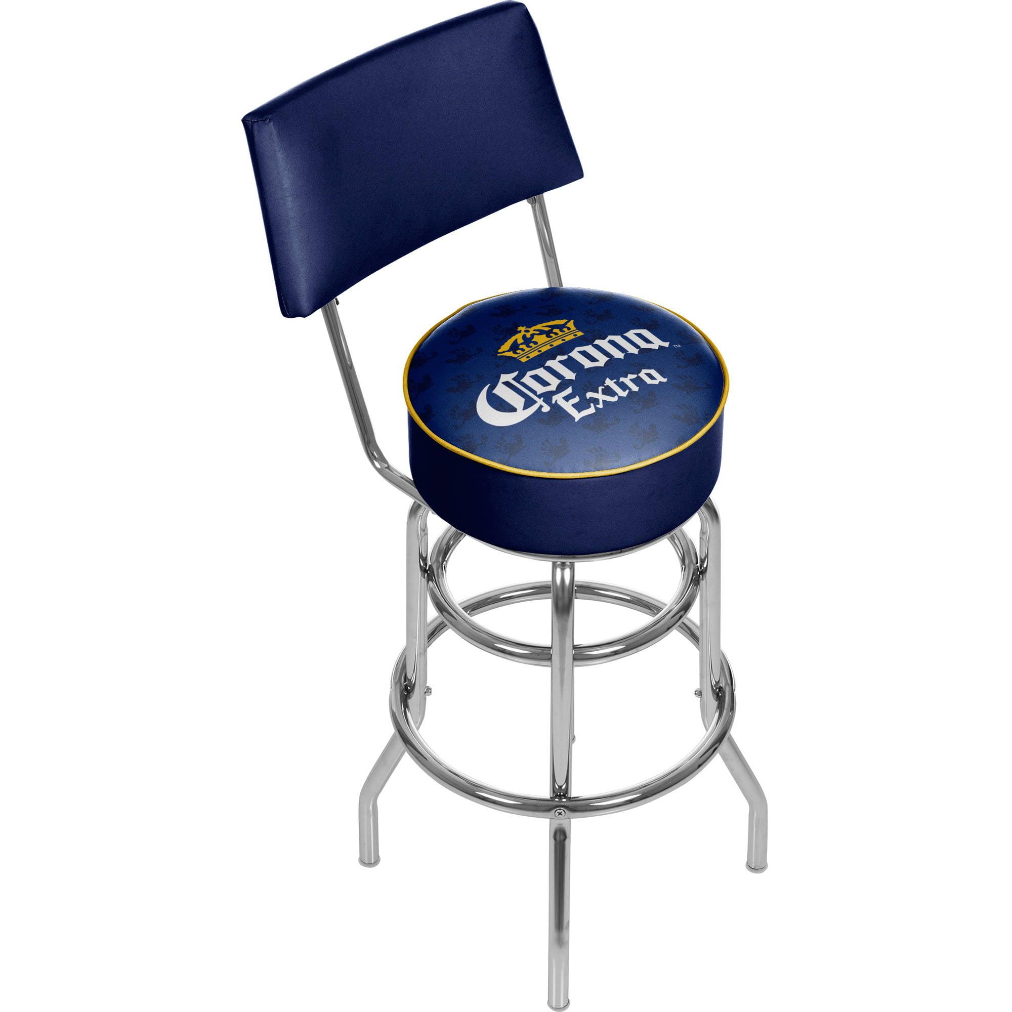 Corona Swivel Bar Stool with Back, Griffin