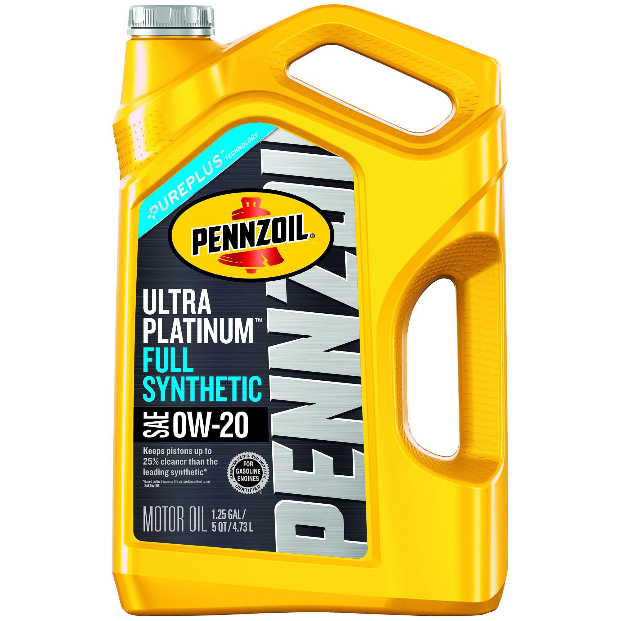 Pennzoil Ultra Platinum 0W-20 SN Motor Oil ,5 Quart