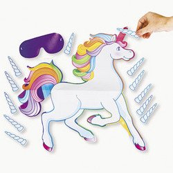 Fun Express Pin The Horn On The Unicorn Party Game - Pin The Horn On The Unicorn