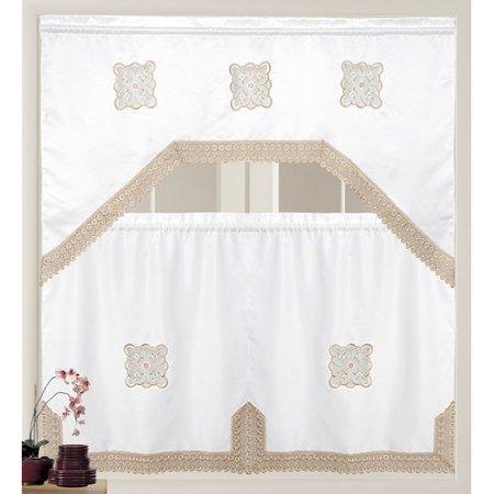Red Barrel Studio Shaurya Luxury 3 Piece Kitchen Curtain Set