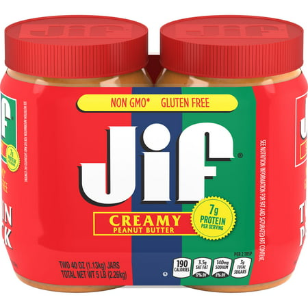 Jif Creamy Peanut Butter Twin-Pack, 80-Ounce