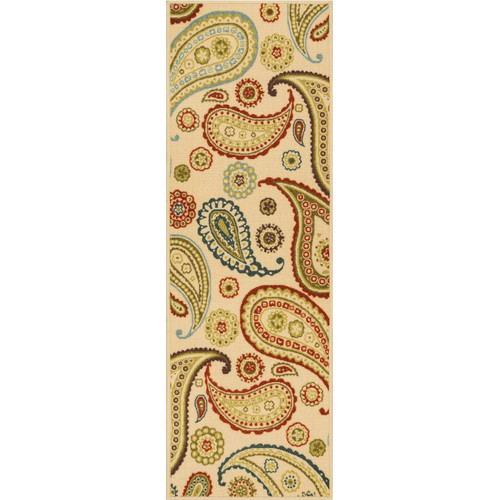 Well Woven Kings Court Flora Modern Ivory Area Rug